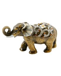 Treasured Trinkets Elephant with Curled Trunk