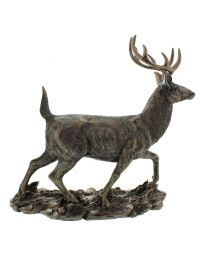 Bronze Colour Stag Figurine