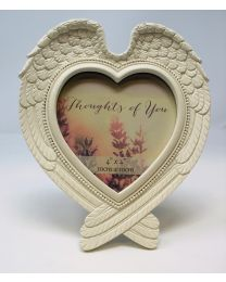 Heart Shaped Wings Photo Frame