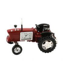 Miniature Novelty Clocks Red and Black Tractor