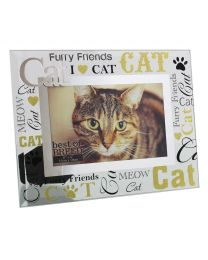 I Love My Cat 3D Word Glass Photo Frame