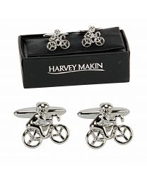 Harvey Makin Pair of Cufflinks Cyclist