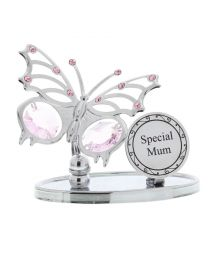 Crystocraft Chrome Plated Butterfly Plaque -Special Mum