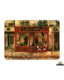Tuftop Glass Chopping Board in Cafe De Paris Design