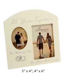 Amore 25th Wedding Anniversary Gift Picture Frame
