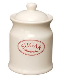 Ascot Ceramic Sugar Jar Kitchen Storage Canister Vintage Retro
