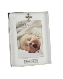 Silver Plated Photo Picture Frame Christening Day Portrait 5'' x 7''