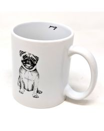 Best Of Breed Pug White Ceramic Mug