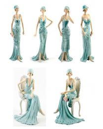 Broadway Belles Lady Figurines Blue Collection