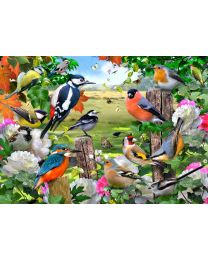 Tuftop Glass Worktop Saver Board, British Birds Design