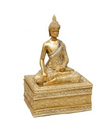 gold buddha trinket box