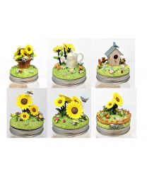 RUSS 3D Decorative Candle Jar Topper Lid Ornaments
