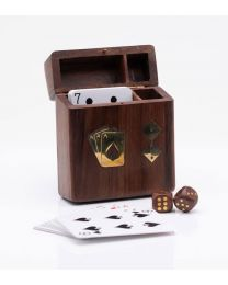 Harvey Makin Playing Cards & 5 Dice in Wooden Box 5017224888807