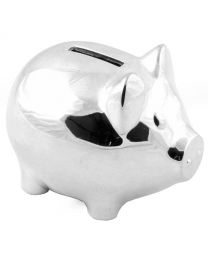 Christening Gifts. Silverplated Piggy Pig Money Box