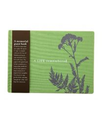A Life Remembered Olive Green Memorial Rememberance Funeral Guest Book