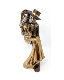 skeleton bride and groom ornament