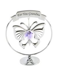 Crystocraft 'For You Grandma' Swarovski Crystal Elements Butterfly Gift