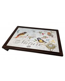 Bean Bag Cushion Lap Tray. Garden Birds Design