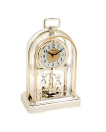 Classic High Quality RHYTHM Gilt Arch Anniversary Mantel Clock