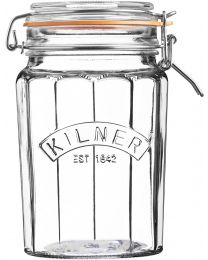 Kilner 0.95L Facetted Clip Top Jar, 0.95 Litre