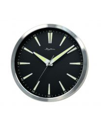 Rhythm Retro Looking Large Black Face Luminous No Ticking Wall Clock