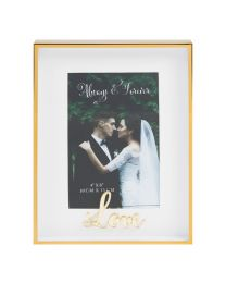 4'' x 6'' Gold ''Love'' Photo Picture Frame Wedding Anniversary Gift