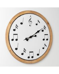 HOMETIME 60cm Wall Clock Musical Notes Face 5017224919556