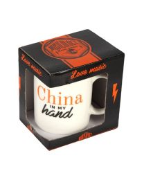 Novelty Musicology Mug Gift 1980's 'China In My Hand'