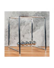 Chrome Finish Metal Newtons Cradle Office Desk Gadget Gentlemen Gift