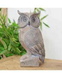 carved wood effect owl ornament 5017224902787