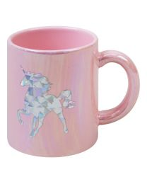 Ceramic Pink Iridescent My Spirit Animal Is A Unicorn Mug Gift Boxed