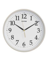 rhythm silver silent no ticking wall clock 4903456209361
