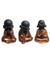 Rose Gold Sitting Child Buddha Gift Ornaments