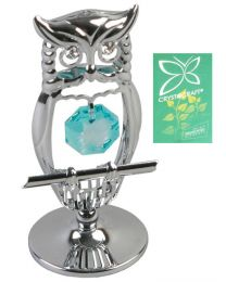 Crystocraft Silveplated Owl Gift Ornament