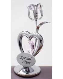 Crystocraft Celebration Heart + Tulip ''Special Mum'' Keepsake