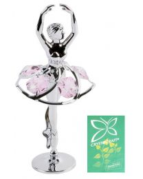 Crystocraft Silveplated Pink Ballerina Gift Ornament