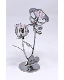 Crystocraft Chrome Plated Rose ''Special Grandma''