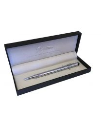 Stratton of Mayfair Silver Black Ink Biro Pen Soft Touch Stylus