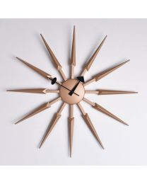 sunburst wall clock 5017224918016