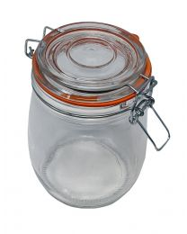 clip top glass storage jar 4893112109619