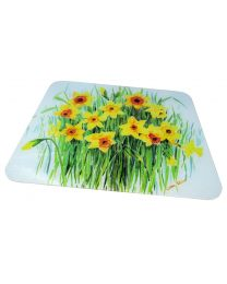 Tuftop Glass Chopping Board in Daffodil Design