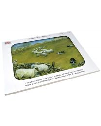 Tuftop Glass Chopping Board in Sheepdog and Sheep Design