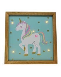 Rainbow Unicorn Light Up Wall Plaque