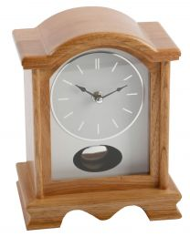 Light Oak Finish Pendulum Mantel Clock