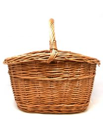 High Sided Wicker Shopping Basket With Handle