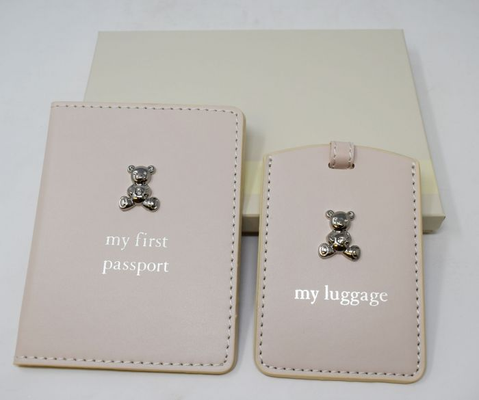 Childrens First Passport /'Baby Bambino/' Cover and Luggage Tag Gift Set CG1010