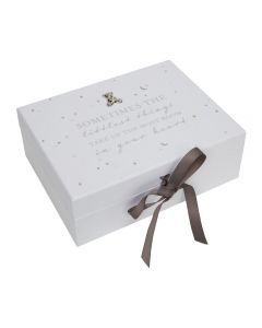 Bambino Baby White Keepsake Memory Box with Drawers and Compartments