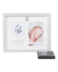 Bambino Baby Hand Print Ink Pad Photo Frame Keepsake, Grey Unisex Keepsake