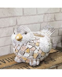 pebble dash bird planter 5017224810747