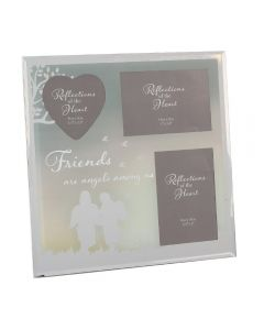 Collage Multi Aperture Glass Photo Frame 'Friends Are Angels Among Us'